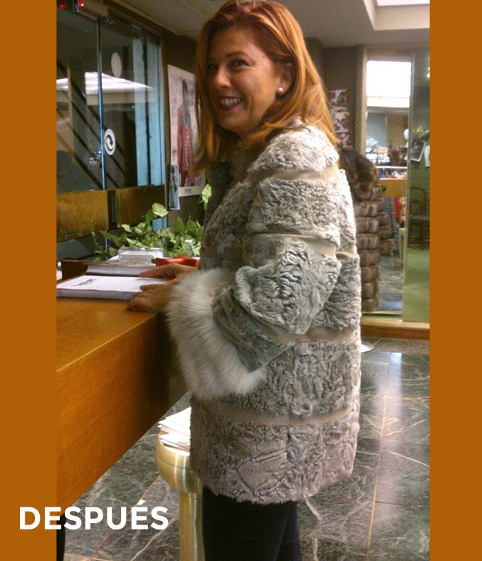 Transformación chaqueta en abrigo de piel