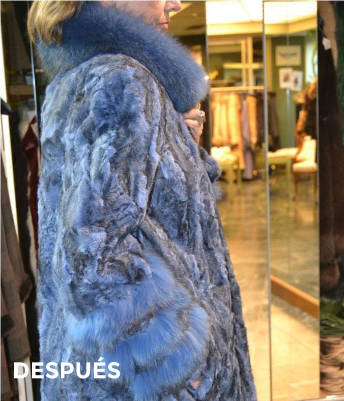 Abrigo de piel de zorro azul