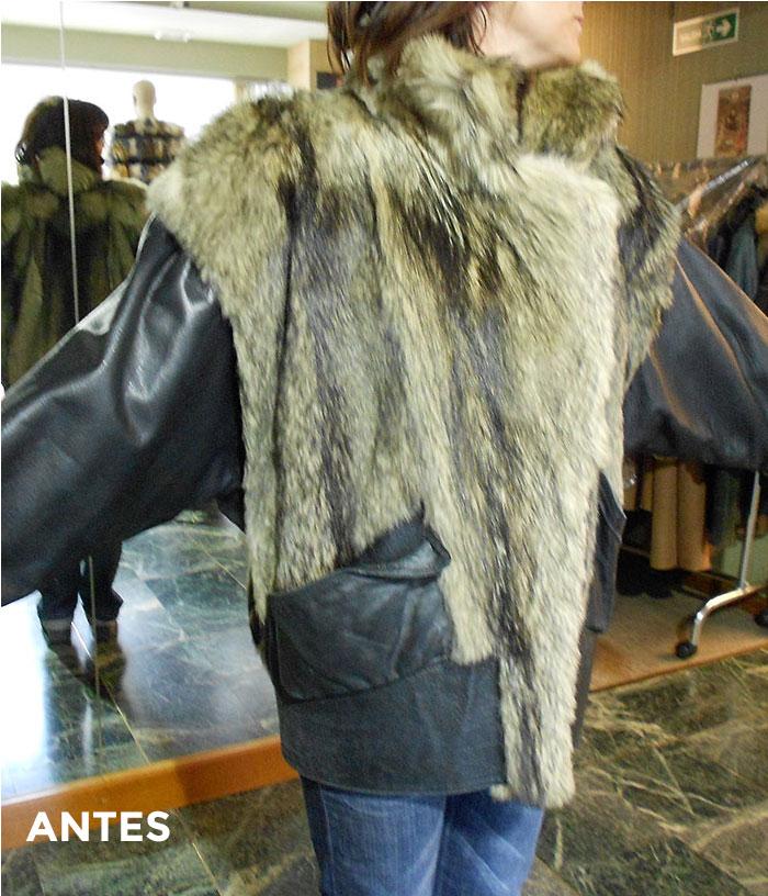 Abrigo de piel desfasado