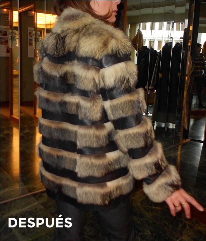 Abrigo de piel y cuero