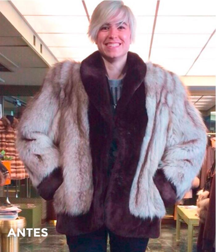 Reciclaje abrigo de piel